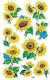 AVERY Zweckform 54103 Deko Sticker Sonnenblumen 30 Aufkleber