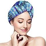 Archiba Hair Dry Zusammenfassung Blue Lines Hintergrund 759 Haartuch Turban Wrap Soft Duschkopf Handtuch Schnelltrockner Hut