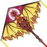 Mint's Colorful Life Drachen Drache für Kinder Erwachsene, einleiner flugdrachen Bester Groß Beach Drachen, 100m Drachenschnur inklusive