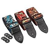 Irich Verstellbare Gitarrengurte mit 6-Block-Packung für Akustik-, Bass- und E-Gitarre Länge 88cm-153cm
