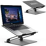 TATE GUARD Laptopständer, Faltbarer Laptop-Riser, verstellbare Winkel, Aluminiumlegierung, leicht und langlebig, Laptopständer kompatibel mit MacBook Pro/Surface Pro/HP Envy 15 - Schwarz