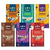 3Bears Porridge Fruchtiges Probier-Pack, 6 x 50g I Leckere Auswahl für ein gesundes Frühstück, ohne Zusatz von Zucker I in den Sorten Apfel/Zimt, Kokos, Banane/Mohn, Kakao, Beere & kerniger Klassiker