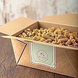 süssundclever.de® Bio Vollkornnudeln   Spiralen aus Italien   2 kg (2 x 1,0 kg)   plastikfrei und ökologisch-nachhaltig abgepackt