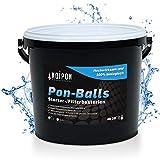 KOIPON Pon-Balls Filterstarter, Teich Bakterien zur Teichpflege vom Gartenteich und Fischteich, Filterbakterien Gelkugeln 1 l, Nitrit Entferner