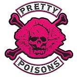 Riverdale Pretty Poisons Biker Gang bestickter Aufnäher zum Aufbügeln (26,9 x 29 cm)