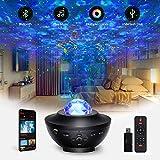 LED Sternenhimmel Projektor Lampe, Tasmor Music Galaxy Projektor mit Fernbedienung, Nebulicht mit Bluetooth Lautsprecher, Sky Lite für Party Weihnachten, Kinder Erwachsene Zimmer Dekoration