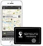 SLIMPURO Tracker Karte mit Bluetooth - Geldbörse Finder, Sucher - Handy Finder - GPS Ortung / Kopplung - Wiederaufladbar - Selfie Funktion - 1,2mm dünn - Brieftaschenfinder - App iOS / Android