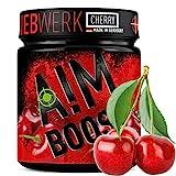 AIM BOOST | Cherry | Profi Gaming Booster | 400g | 40 Portionen | 23 Wirkstoffe | 247mg Koffein + Tyrosin +Theanin | 8 Vitamine | wenig Zucker |