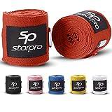 Starpro Elastische Bandagen Boxen Boxbandagen - MMA Muay Thai Bandage Handgelenk Fitness Sparring Innenhandschuhe Daumenschlaufe Handschuhe Hand Wraps|2,55, 3,5, 4,5 Meter (100 Zoll 140 Zoll 180 Zoll)