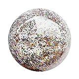 LIOOBO Aufblasbarer Wasserball Konfetti Ball Strandball Spielball Sommer Pool Kinder Wasser Spielzeug Strandspielzeug 24 Zoll