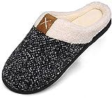 Winter Hausschuhe Damen Memory Foam Plüsc Pantoffeln Frauen Warm rutschfeste Slippers für Indoor & Outdoor Weiß Gr.38/39 EU