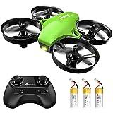 Potensic Mini Drohne für Kinder mit 3 Akkus, Ferngesteuerter RC Quadrocopter Helikopter, 3 Geschwindigkeiten, Höhehalten, kopfloser Modus, 18 min Flugzeit, eine Taste zur Starten / Landen für Anfänger