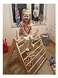 rs-interhandel®, großes Kletterdreieck, Art Pikler, incl. Kindersicherung, sehr hochwertig und beliebt, Dreiecksständer, klappbares Sprossendreieck, Spielzeug, fertig zusammengebaut