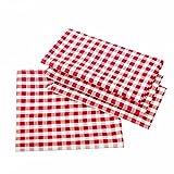 Landhaus Tischdecken in Karo - Farbe und Größe wählbar - 100% Baumwolle (80x80 cm eckig, rot-weiß kariert)