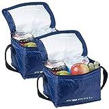 PEARL Isoliertasche: 2er-Set isolierte Mini-Kühltaschen mit Tragegurt, je 2,5 Liter (Kleine Kühltasche)
