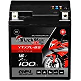 BlackMax YTX7L-BS Motorradbatterie GEL 12V 7Ah CTX7L-BS Batterie Roller 7Ah 6Ah