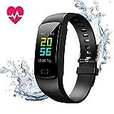 Fitness Armband mit Blutdruckmessung,Smartwatch Fitness Tracker mit Pulsmesser Wasserdicht IP67 Fitness Uhr Blutdruck Messgeräte Pulsuhr Schrittzähler Uhr für Damen Herren Anruf SMS SNS Beachten