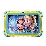 Kinder Tablet, Kindertablet Pad Lerntablet für Kids, 7-Zoll-HD-Touchscreen, Dual Camera, Android OS Bluetooth WiFi für Jungen Mädchen