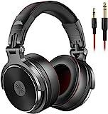 OneOdio Over Ear Kopfhörer mit Kabel, HiFi Studiokopfhörer mit Hi-Res, 50mm Treiber, Share-Port, Große Ohrmuscheln, 6,35 & 3,5mm Klinke, Geschlossene DJ Headphones für Podcast, Handy, PC (Pro 50)