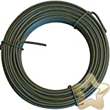 edenStar - 30m Spanndraht 3 mm - Bindedraht Grün Ummantelt - Maschendraht Zaun Metall Draht PVC-beschichteter Pflanzendraht