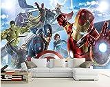 Avengers Jungen Schlafzimmer Foto Tapete Custom 3d Wandbilder Marvel Comics Tapete Kinderzimmer Interior Design Zimmer Dekor Breite350cm * Höhe250cm pro