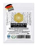 Cordyceps (Tibetischer Raupenpilz) - Ganzer Pilz   Qualitäts-Klasse I   GMP + ISO-9001-zertifiziert + laborgeprüft   roh vegan + schonend getrocknet   kein Pulver   Zufriedenheitsgarantie   100g