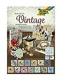 folia 47549 - Motivblock Vintage, 24 x 34 cm, 26 Blatt - Grundlage für vielfältige Bastelarbeiten und -ideen
