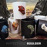 Kaffeetasse mit Boulderstein Klettergriff aus dem Klettersport