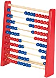 Playtastic Abakus: Holz-Rechenschieber mit 100 Holzperlen, 2 Farben (blau & rot) (Rechenrahmen)