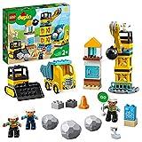 LEGO 10932 DUPLO Baustelle mit Abrissbirne Bauset mit Spielzeuglastwagen, Kran und Radlader, Spielzeug für Kleinkinder ab 2 Jahren