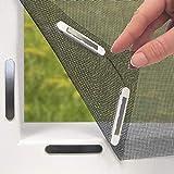 EASYmaxx Fenster-Moskitonetz mit Magnetbefestigung 150 x 130cm | Zuschneidbar ohne Bohren mit Magnet - Klebmontage für alle Fenster | Durchsichtig | Insektenschutz Fliegenvorhang