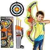 Pfeil und Bogen Set für Kinder - Kinderbogen mit LED - Bogenset zum Bogenschießen