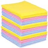 com-four® 30x Haushaltstücher, extrem saugfähige und strapazierbare Allzweck-Wischtücher aus Viskose, wiederverwendbar (Set 1 - Putztücher 30 Stück)