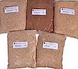 Räucherspäne Buche, Erle, Hickory, Kirsche, Pflaume mittelfeine Körnung Typ 7, Korngröße ca. 1-3mm