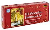 Idena 8582090 - LED Christbaumkerzen zum Klemmen, 10 Stück in warmweiß, ca. 9 cm hoch, mit Dimmer und 6 Stunden Timer Funktion, batteriebetrieben, mit Fernbedienung