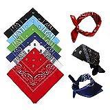 Bandana Kopftuch für Damen Herren 6 Stück, Baumwolle Paisley Halstuch Kopf Schal, Square Nickituch Bandana Tuch für Motorad Biker - auch als Taschentuch