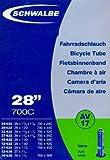 SCHWALBE Fahrradschlauch AV17 mit Autoventil ~ 28' ~ 37-622 mm (28 x 1 3/8 x 1 5/8 Zoll) (28 x 1.40 Zoll)
