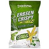Bio Protein Erbsen Crispy Light Gemüse-Chips Rosmarin Thymian Paprika Gemüse-Sticks Flips Knuspererbsen 6x 100g ohne Fett eiweißreich vegan glutenfrei laktosefrei naturell fettarm Rohkost kalorienarm