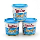 BAUTZ'NER Senf mittelscharf - 3er Set (3x200 ml) Eimer Mittelscharfer Senf – Original Bautz'ner Rezeptur seit 1955 – Ohne Zusatz von Konservierungsstoffen und Geschmacksverstärkern – Senf