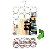 Gurxi Gürtel Schalbügel Hängeorganizer für Schals Gürtel Schalhalter Schalhalter Aufhänger Schalbügel für die Organisierte Aufbewahrung von Schals und Tüchern in Ihrem Kleiderschrank