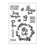ECMQS Wish DIY DIY Transparente Briefmarke, Silikon Stempel Set, Clear Stamps, Schneiden Schablonen, Bastelei Scrapbooking-Werkzeug
