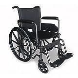 Mobiclinic, Modell S220, Rollstuhl, Premium Faltrollstuhl, Selbstfahren, Leichtgewicht mit Vollgummirädern, Sitzbreite 40 cm, für ältere und behinderte Menschen