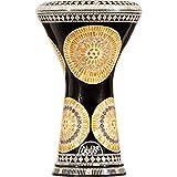 Die M22-6248 Darbuka von Gawharet El Fan (World Percussion) – Arabische Darbouka-Trommel/Doumbek/Darabuka/Durbaka/Darbka mit weißem Kopf/Fell von Malik