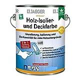 Kronen/ Jaeger Holz-Isolier- und Deckfarbe 319 2,5 Liter ,Weiß Matt