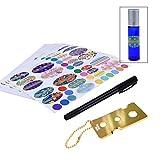 Kare & Kind Flaschenaufkleberset für ätherische Öle mit Flaschenwerkzeug mit Kette und Stift für Etiketten schreiben