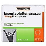 Eisentabletten-ratiopharm 100 mg Filmtabletten, 100 St