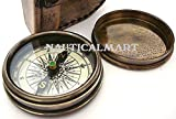Robert Frost Poem Compass With Leather Case - BY NAUTICALMART
