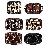 Ulikey 6 Stück Perlen Haarkämme Magie Elastische Comb Haarspangen Dehnbar Kamm Doppel Clips DIY Haar Styling Werkzeug für Damen Mädchen Haarschmuck