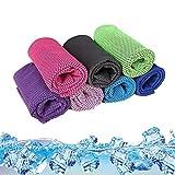 Losuya 5er-Pack Mikrofaser-Kühltuch für Sport und Fitness, zufällige Farbe 30 x 100 cm