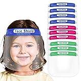 Salalook 10 Stück Kinder Gesichtsschutz Visier aus Kunststoff Gesichtsvisier Face-Shields Safety Anti-Fog Spuck-Schutz Premium Transparent Schutzvisier Gesichtsschild Wiederverwendbar (A)